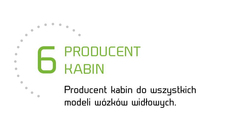 Producent kabin do wszystkich modeli wózków widłowych